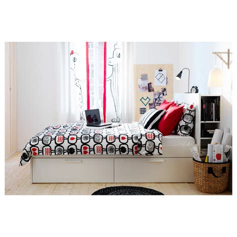 ikea king size bed headboard brimnes bed frame w storage and headboard white l 246 nset