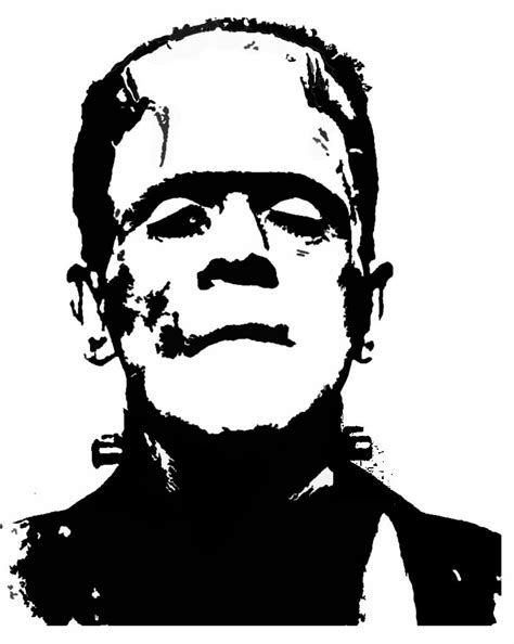printable pumpkin stencils frankenstein printable frankenstein pumpkin carving pattern template