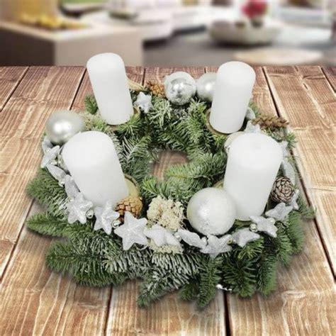 adventskerzenhalter glas adventskranz suedlicher winter