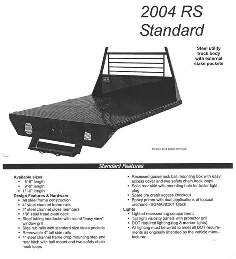 truck bed rs cm truckbeds