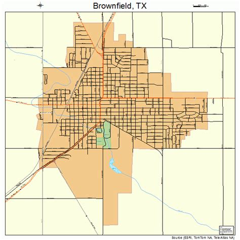 brownfield texas map brownfield texas map 4810720