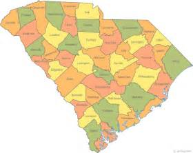 map of counties map of south carolina