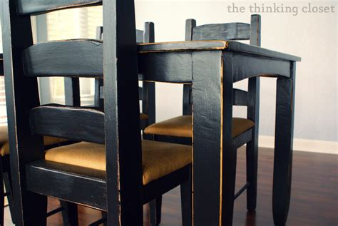 Craigslist Dining Room Furniture Black Distressed Table Makeover The Thinking Closet