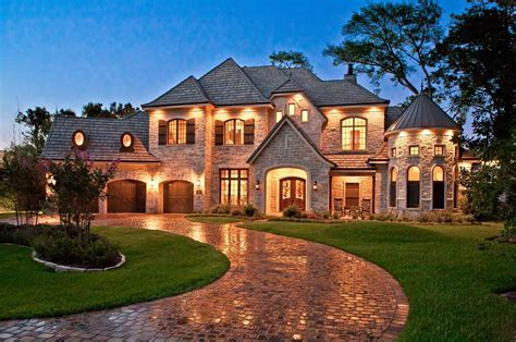 Large Country Homes | gorgeous french country house design exterior with large