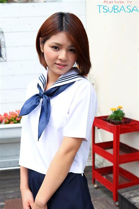 Be A Student Idol by Outdoor Vintage Tsubasa Akimoto Japanese Gravure Idol