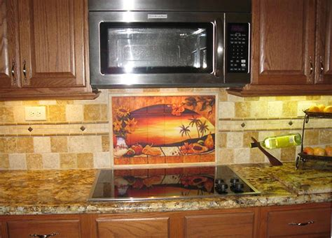 mexican tiles for kitchen backsplash mexican tiles sunset tile murals tropical kitchen
