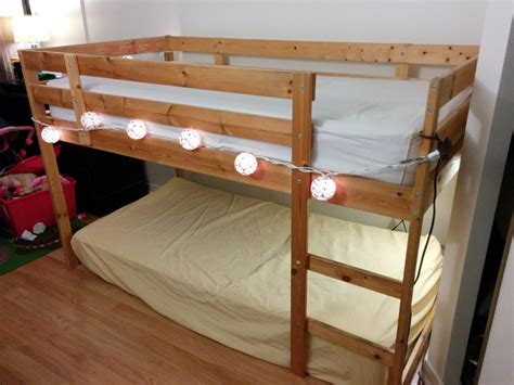 mydal bunk bed turn a mydal bunkbed into a kura loft bed ikea hackers