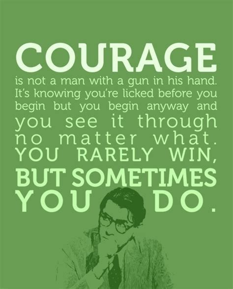 courage and bravery quotes in to kill a mockingbird image