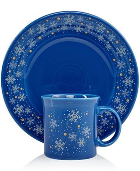 Lost Macys Gift Card - fiesta macy s exclusive snowflake collection dinnerware dining entertaining macy s