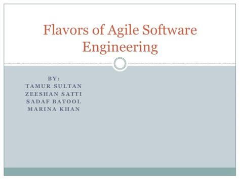 software engineering in the agile world books flavours of agile software engineering