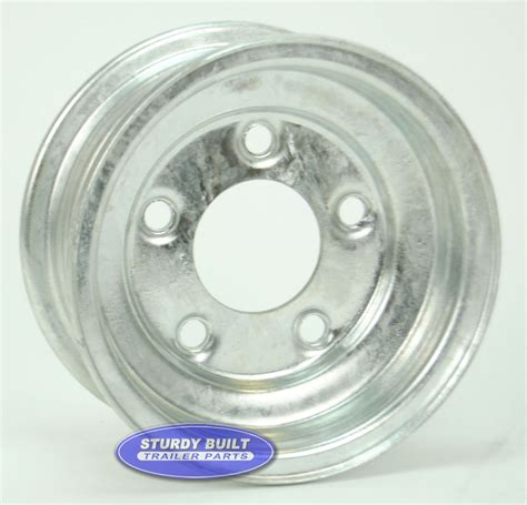 stock bolt pattern 8 inch galvanized 5 bolt trailer wheel with 5 on 4 1 2 lug