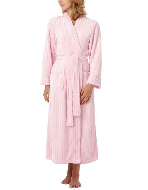 oscar de la renta robe oscar de la renta textured plush robe in pink ptlpk lyst