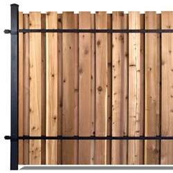 8 Ft Trellis Panels Slipfence 6 Ft X 8 Ft Black Aluminum Middle Post Fence
