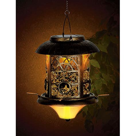 solar light bird feeder solar lighted bird feeder 216692 bird houses