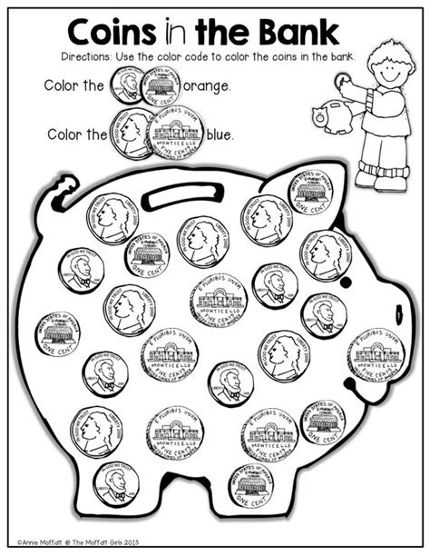 Identifying Coins Worksheets by Summer Review No Prep Kindergarten Coins Summer And