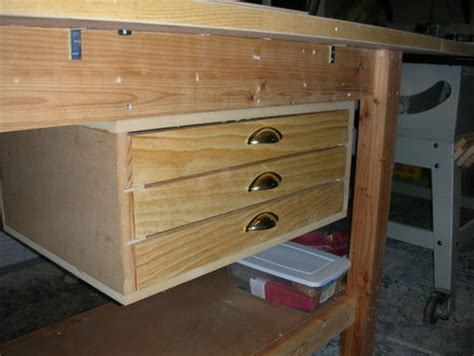Building Drawers For A Workbench by 187 Workbench Drawers Diy Pdf Work Table Plans