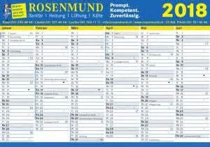 Kalender 2018 Schweiz Basel Kalender 183 Rosenmund Haustechnik Ag In Basel Liestal