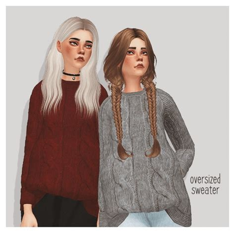 Oversized Sweater Sims 4 Cc | pure sims oversized sweater sims 4 downloads sims 4
