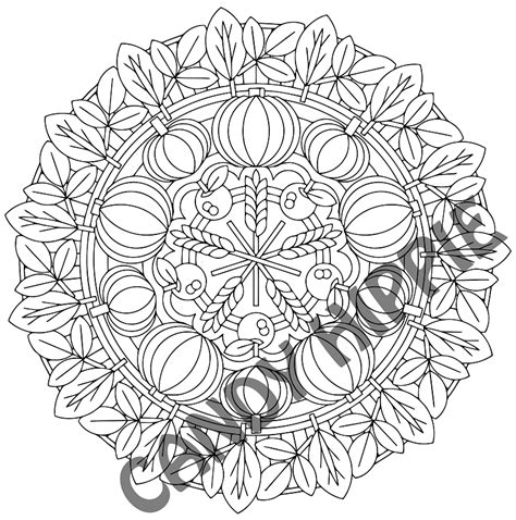 autumn mandala coloring pages autumn harvest autumn coloring page candy hippie coloring