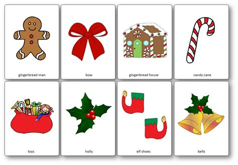christmas decorations flashcards flashcards free printable flashcards to speak and play