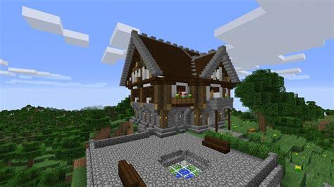 mittelalterliches herrenhaus  minecraft bauen