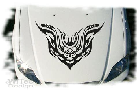 Motorrad Aufkleber Skull by Biker Skull Tribal Motorrad Autoaufkleber Auto Aufkleber