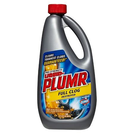 liquid plumber for bathtub liquid plumr pro strength clog remover full clog destroyer 32 oz target