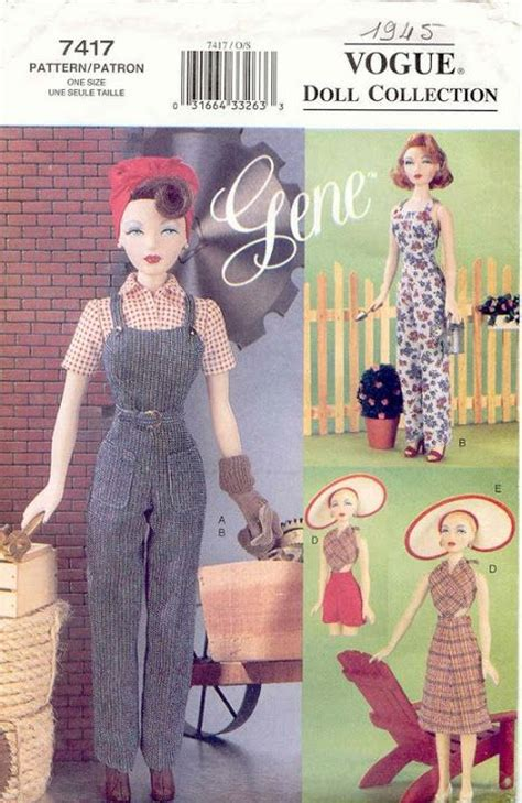 fashion doll clothing rosemarie ionker free copy of pattern vogue 7417 patterns