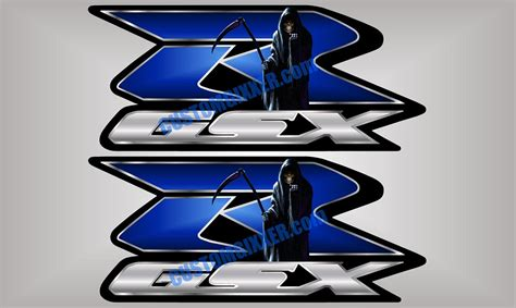gsxr emblem custom vinyl decals and graphics for suzuki gsx r motorcycles