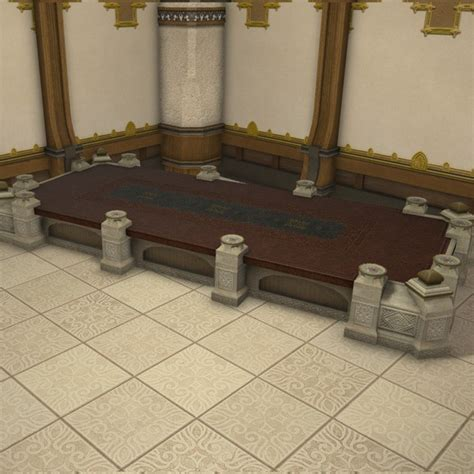 Mahogany Dining Room Furniture Royal Plotting Table Ffxiv Housing Table