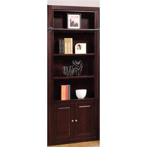 32 Inch Bookshelf Boston 32 Inch Open Top Bookcase In Merlot Finish By