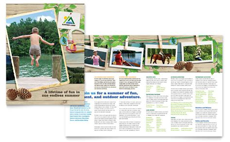 kids summer c brochure template design