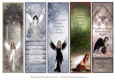 free printable angel bookmarks angel kisses bookmarks cup278038 1443 craftsuprint