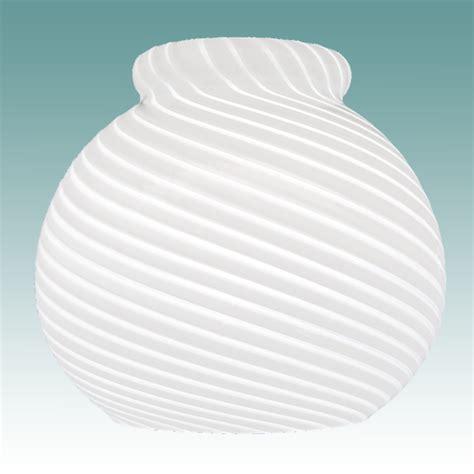7890 white glossy swirl neckless shade glass lshades