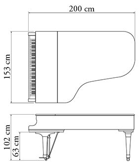 Grand Piano Kawai Gx 5 buy kawai professional series gx5 grand piano 200cm