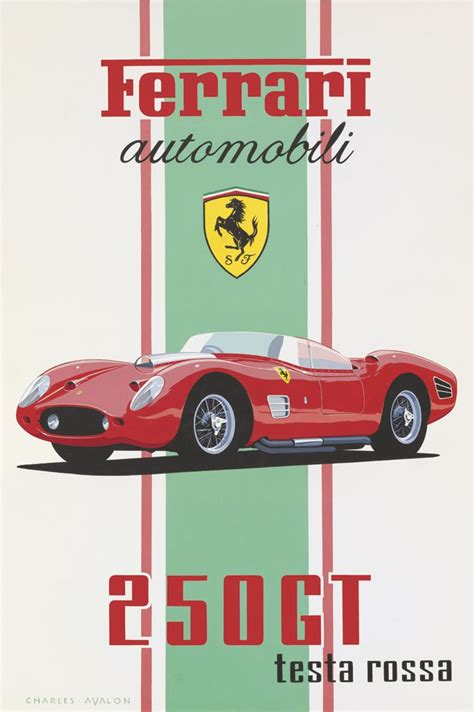 vintage ferrari art the 25 best car posters ideas on pinterest travel