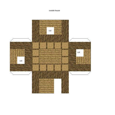 House Papercraft - minecraft papercraft house minecraft seeds for pc xbox
