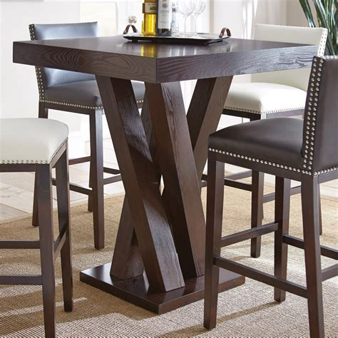 Bar Height Bistro Table Steve Silver Square Bar Height Table Pub Tables Bistro Sets At Hayneedle