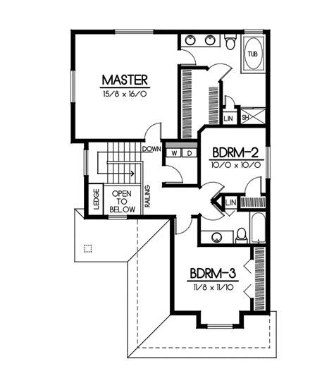 long floor plans long branch artsand crafts home plan 015d 0080 house