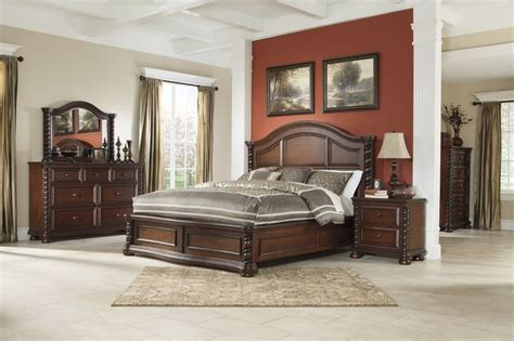 north carolina bedroom furniture brennville reddish brown bedroom collection north