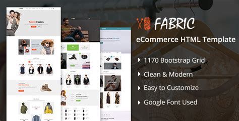 Fabric Bootstrap Ecommerce Website Template Fabric Website Templates
