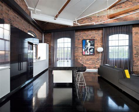 Black Industrial Floor L by Splashy Stylecraft In Kitchen Industrial With