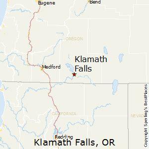 map of oregon showing klamath falls best places to live in klamath falls oregon