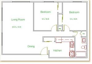 2 bedroom floor plan hilldale towers floor plans