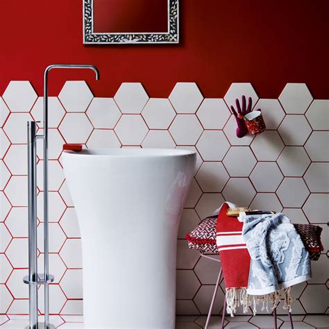 red white bathroom bathroom colour schemes ideal home
