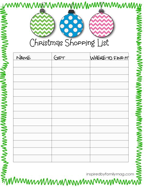 printable christmas list 7 best images of printable christmas list christmas