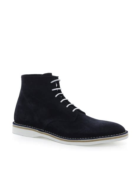 hugo by destio suede boots in black for