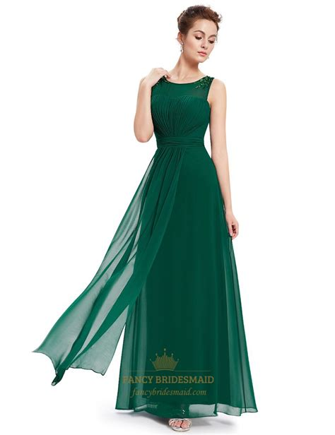 beaded bridesmaids dresses emerald green chiffon floor length bridesmaid dresses with