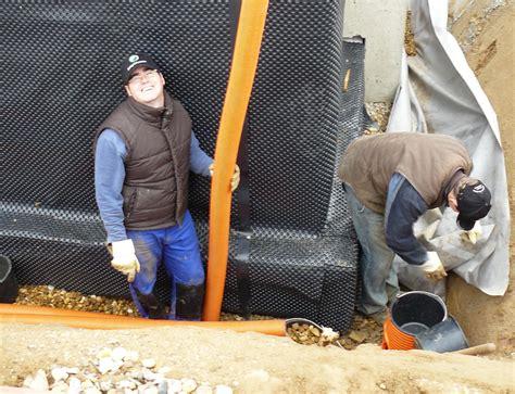 drainage am haus verlegen bautagebuch fronhoven 187 dr 228 nage