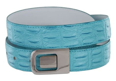 Dressc Moc Croc Buckle Wallet by Mens Leather Dress Belt Turquoise Crocodile With Nickel